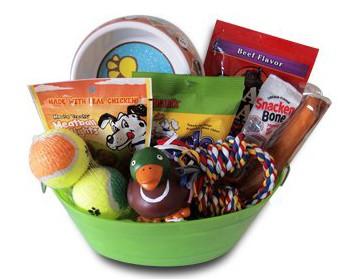 Dog gift basket set