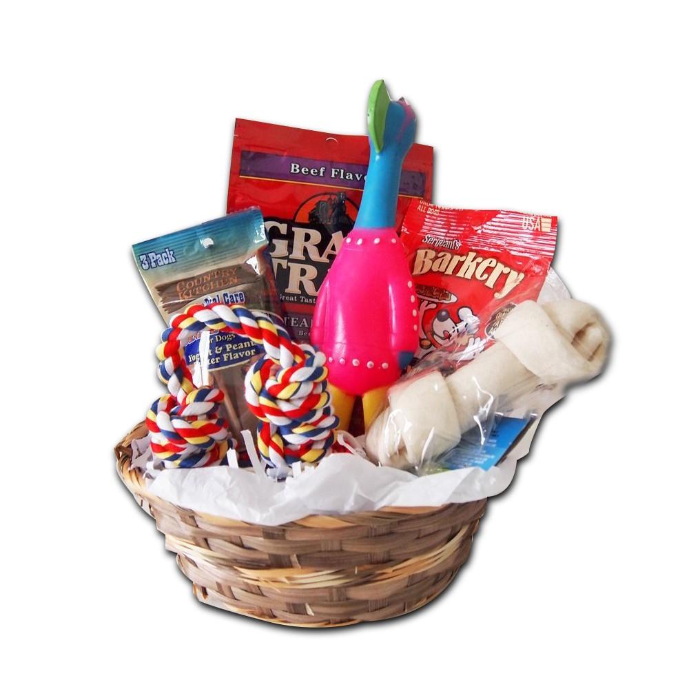 Dog gift basket set toy set